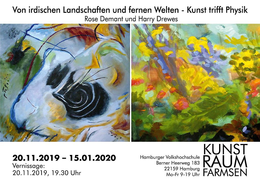 Exhibition Kunstraum Farmsen 2019 - Rose Demant and Harry Drewes - Paintings