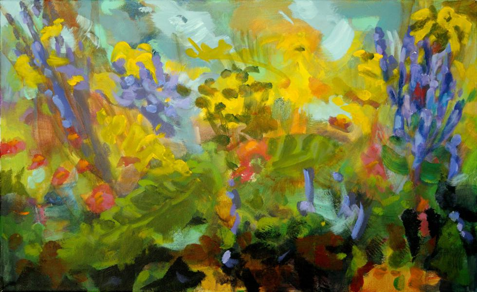 painting flowers garden abstract