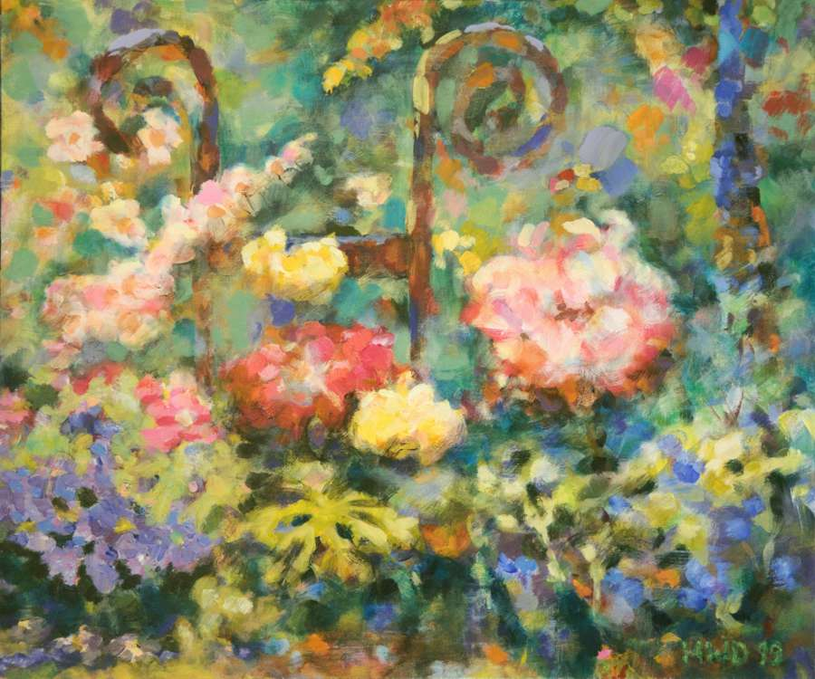 painting reverie flowers garden